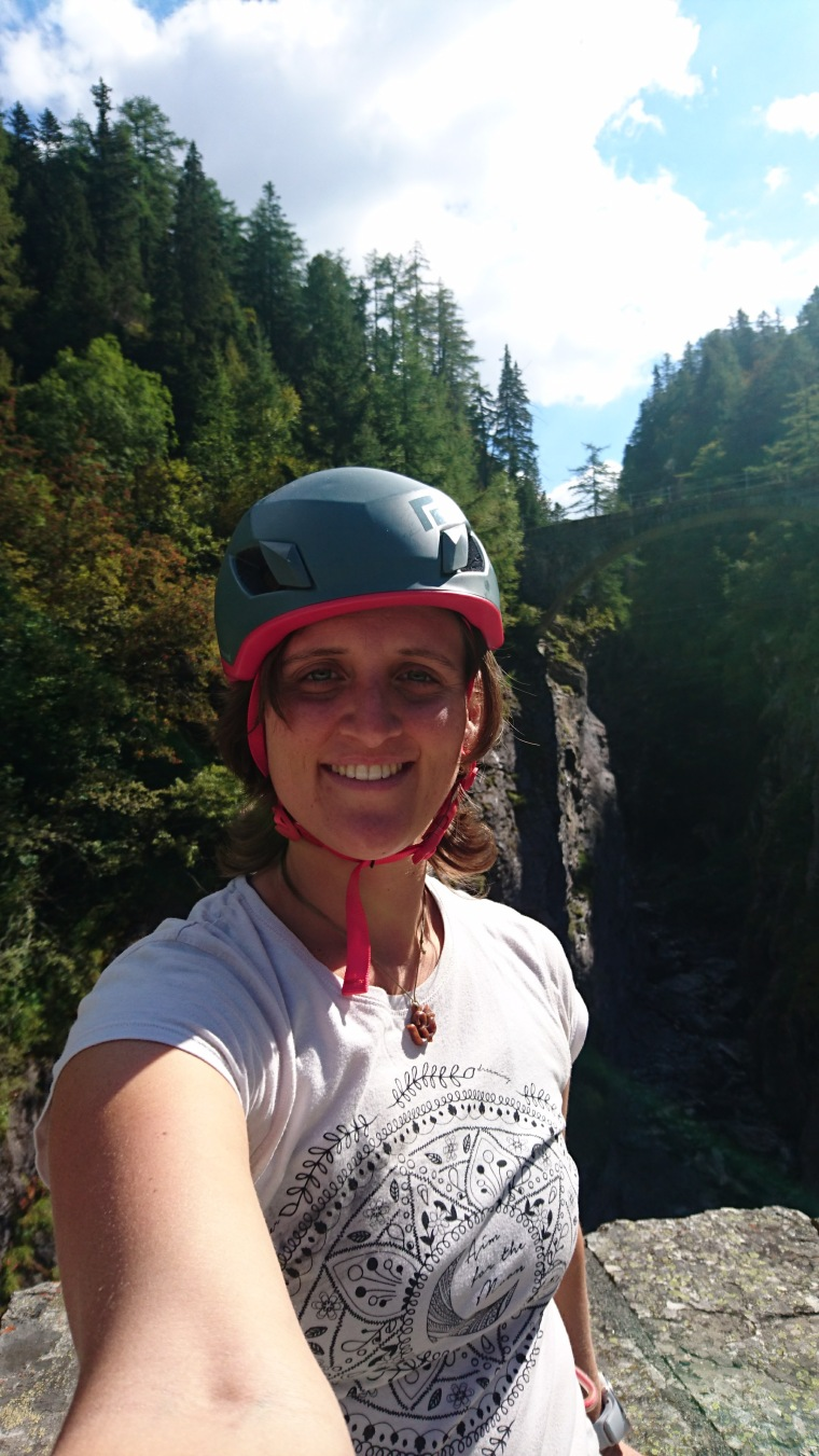 Satisfaction at the end of the first via ferrata